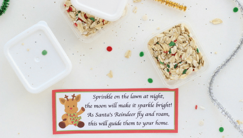 Magic reindeer food favors full tutorial and printable poem these beautiful magic reindeer food favors are easy to make and the perfect takeaway for a forumfinder