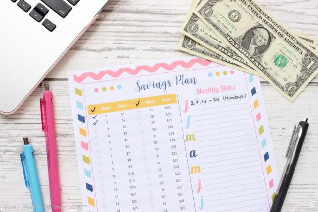 52 Weeks Savings Plan – Free Printable