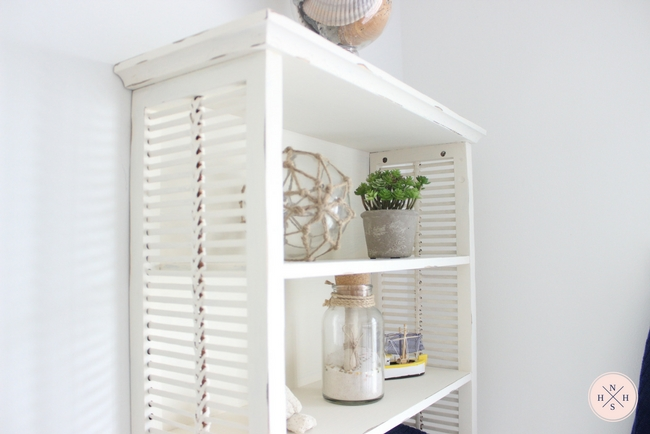 Simple An old over the toilet bathroom cabinet gets a shabby chic makeover in easy steps