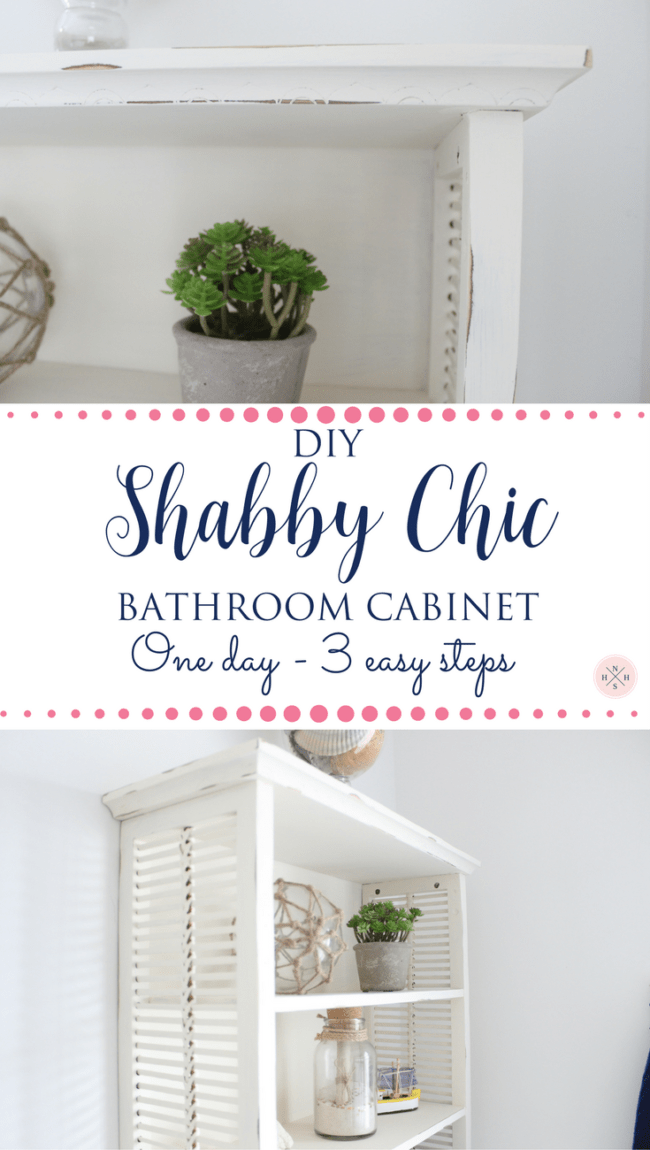 An Old Over The Toilet Bathroom Cabinet Gets A Shabby Chic Makeover In 3  Easy Steps
