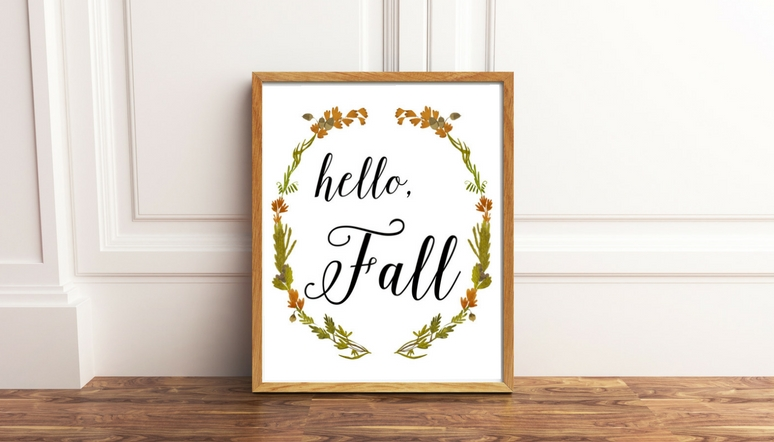 Hello, Fall! Free Printable Sign