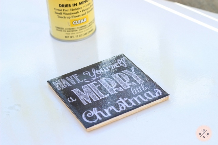 You can make these chalkboard art coasters at home with just a printable file. No chalkboard paint needed!