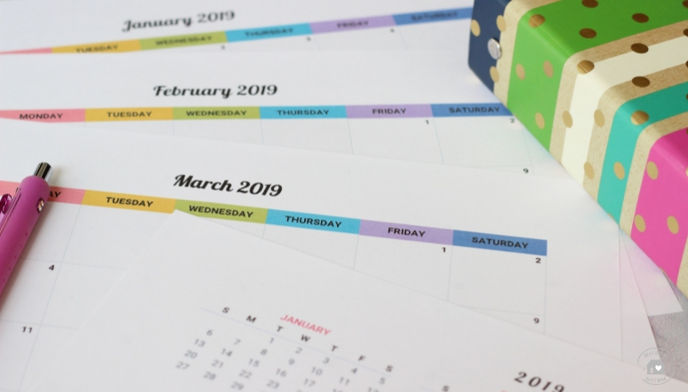 free printable 2019 calendar year at a glance page included