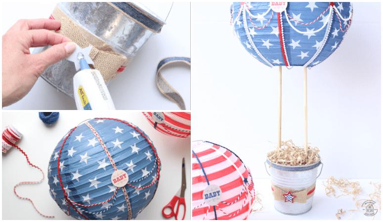 Diy Hot Air Balloon Centerpieces Baby Shower Decor