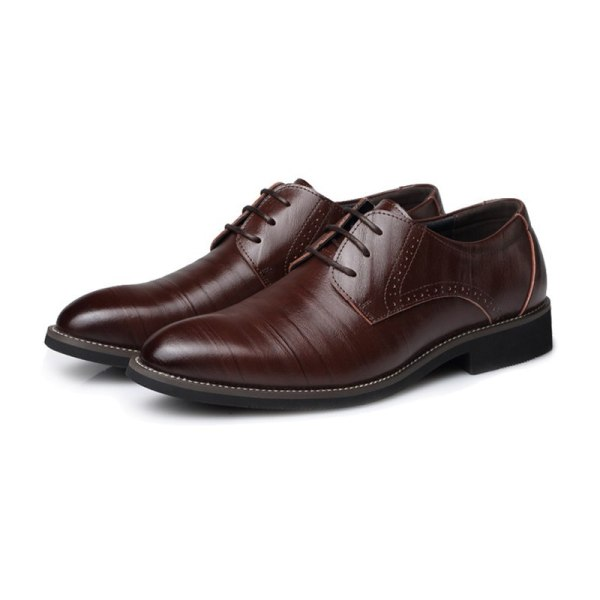 Leather Concise Men Business Shoes 2