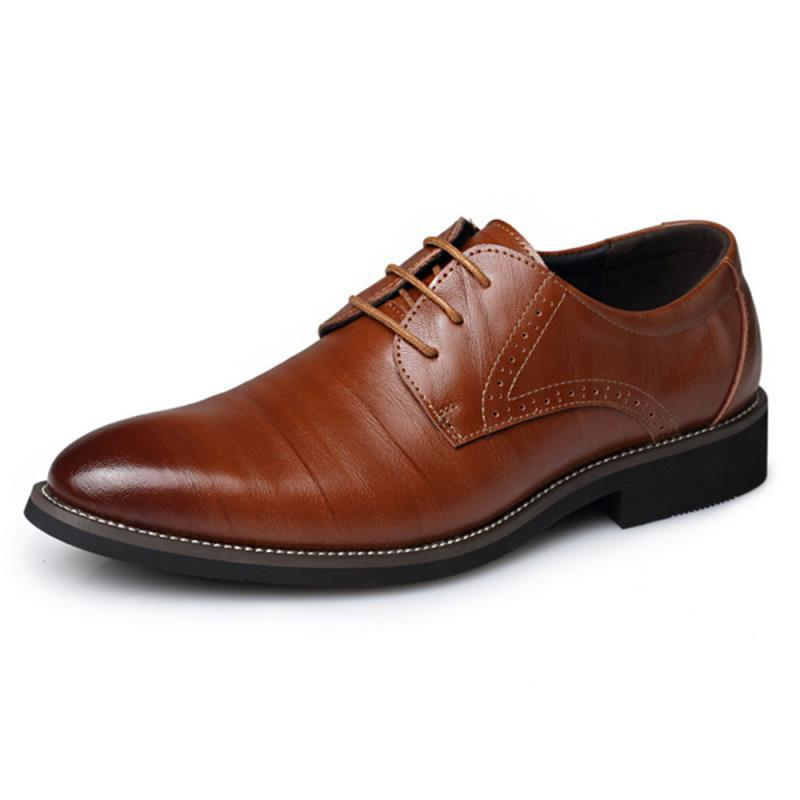 Leather Concise Men Business Shoes