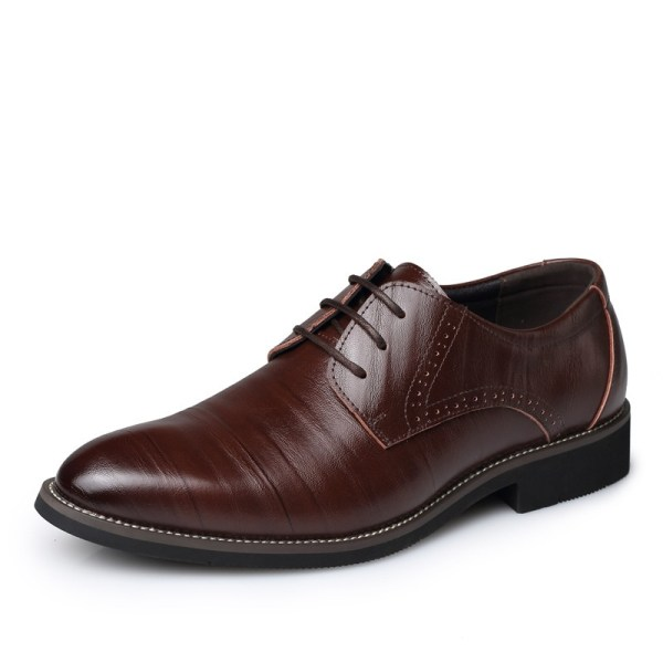 Leather Concise Men Business Shoes 9