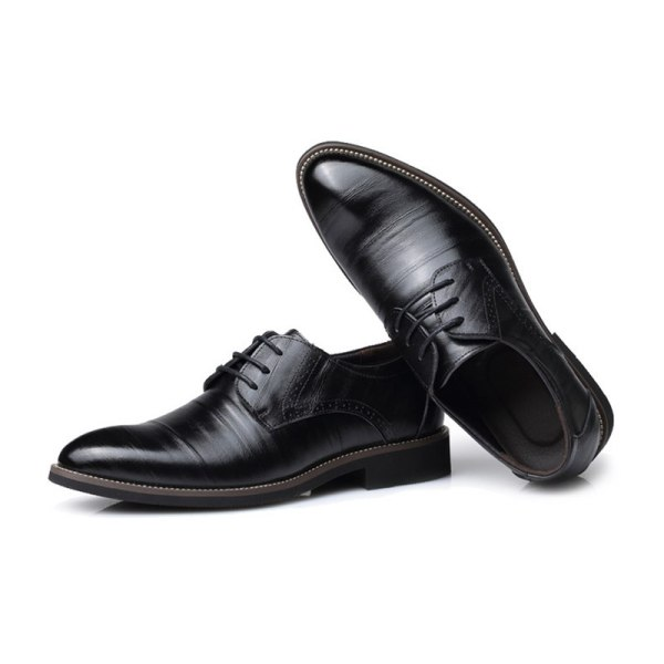 Leather Concise Men Business Shoes 3