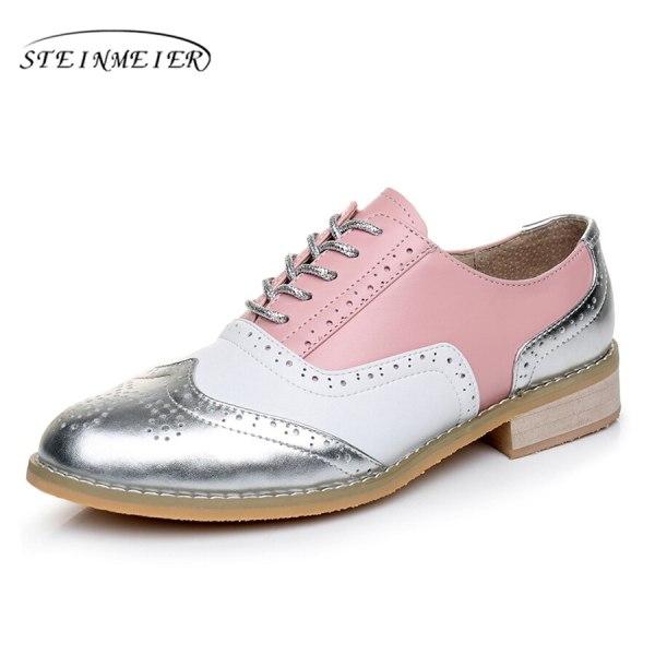 Women Oxford Flat Genuine Leather 16