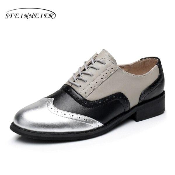 Women Oxford Flat Genuine Leather 9