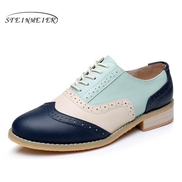 Women Oxford Flat Genuine Leather 4