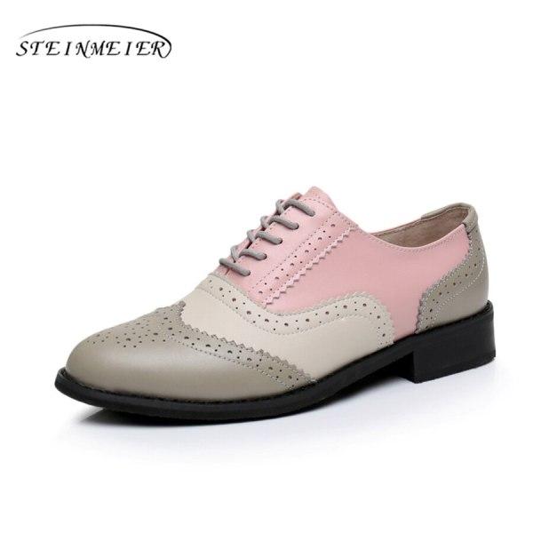 Women Oxford Flat Genuine Leather 11