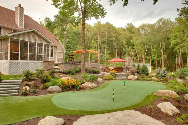 Backyard Putting Greens | Neave Group, NY on Putting Green Ideas For Backyard id=82998