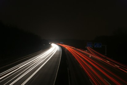 Night-time on the Autobahn
