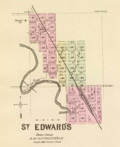 1885 Map of St. Edwards, Nebraska