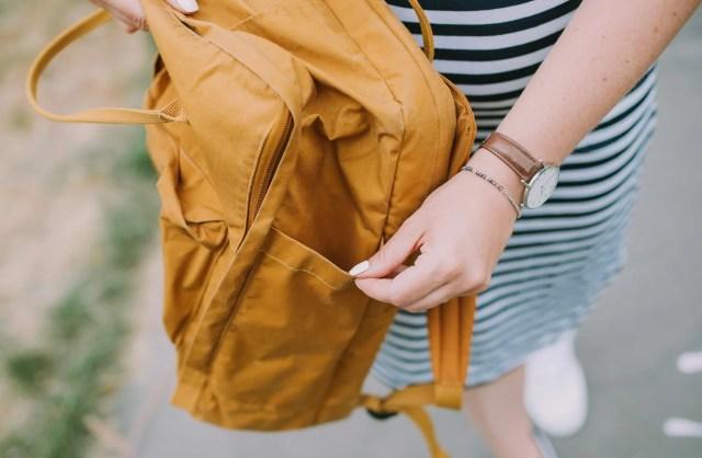 Plecak Kanken  zdjęcie bocznej kieszonki