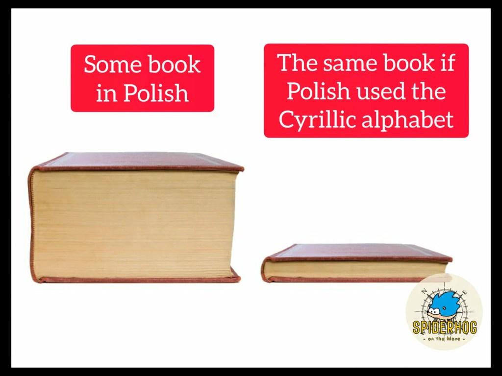alfabet łaciński vs cyrylica