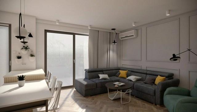 Wykończenie domu - wizualizacja salonu