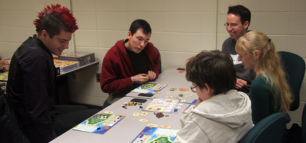 Students enjoying a day game