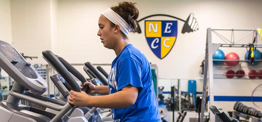 Student running on the Treadmill