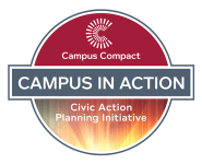 Badge for: Campus Compact, Campus in Action Civic Action Planning Initiative