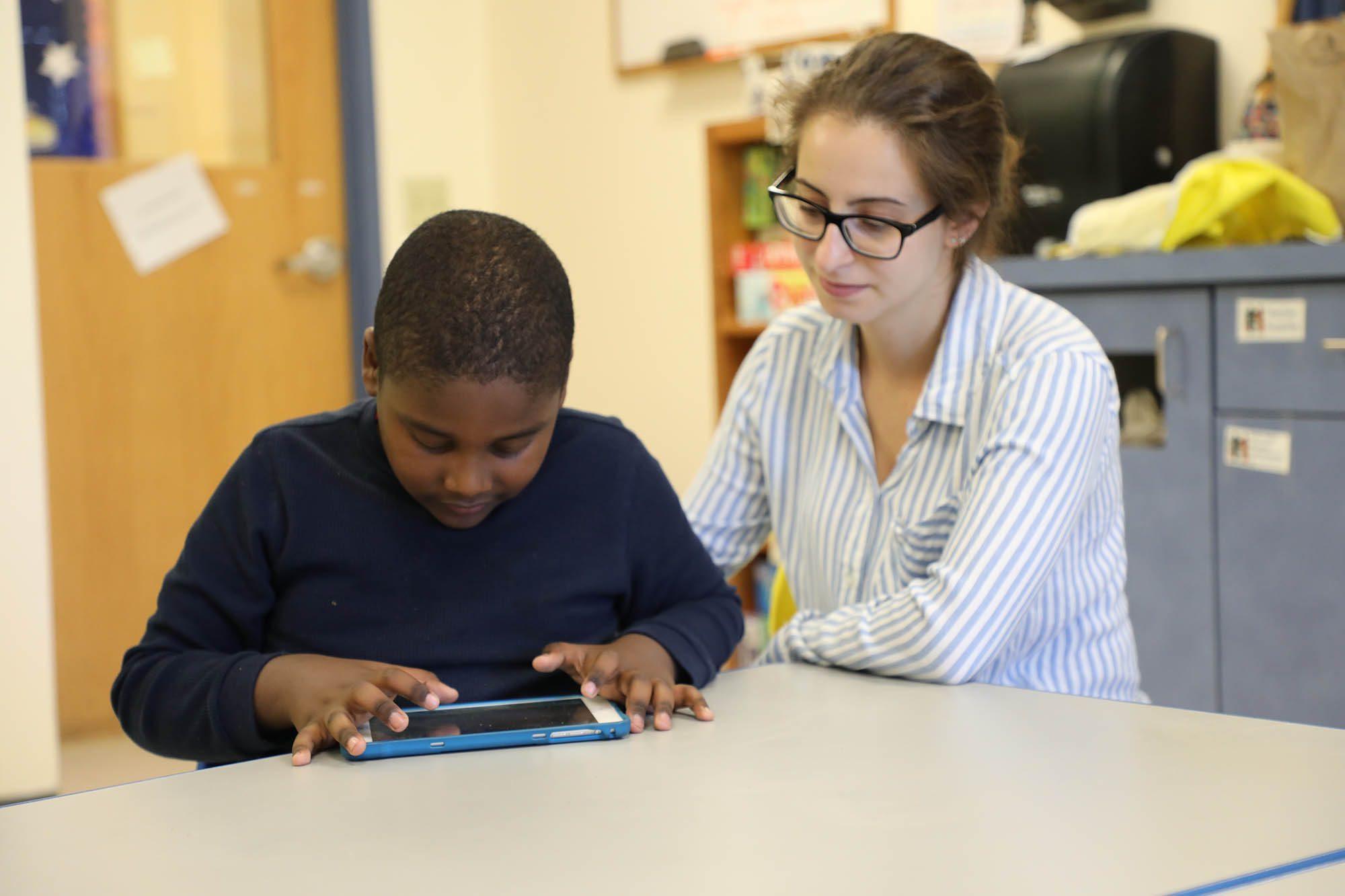 NECC Student at Desk