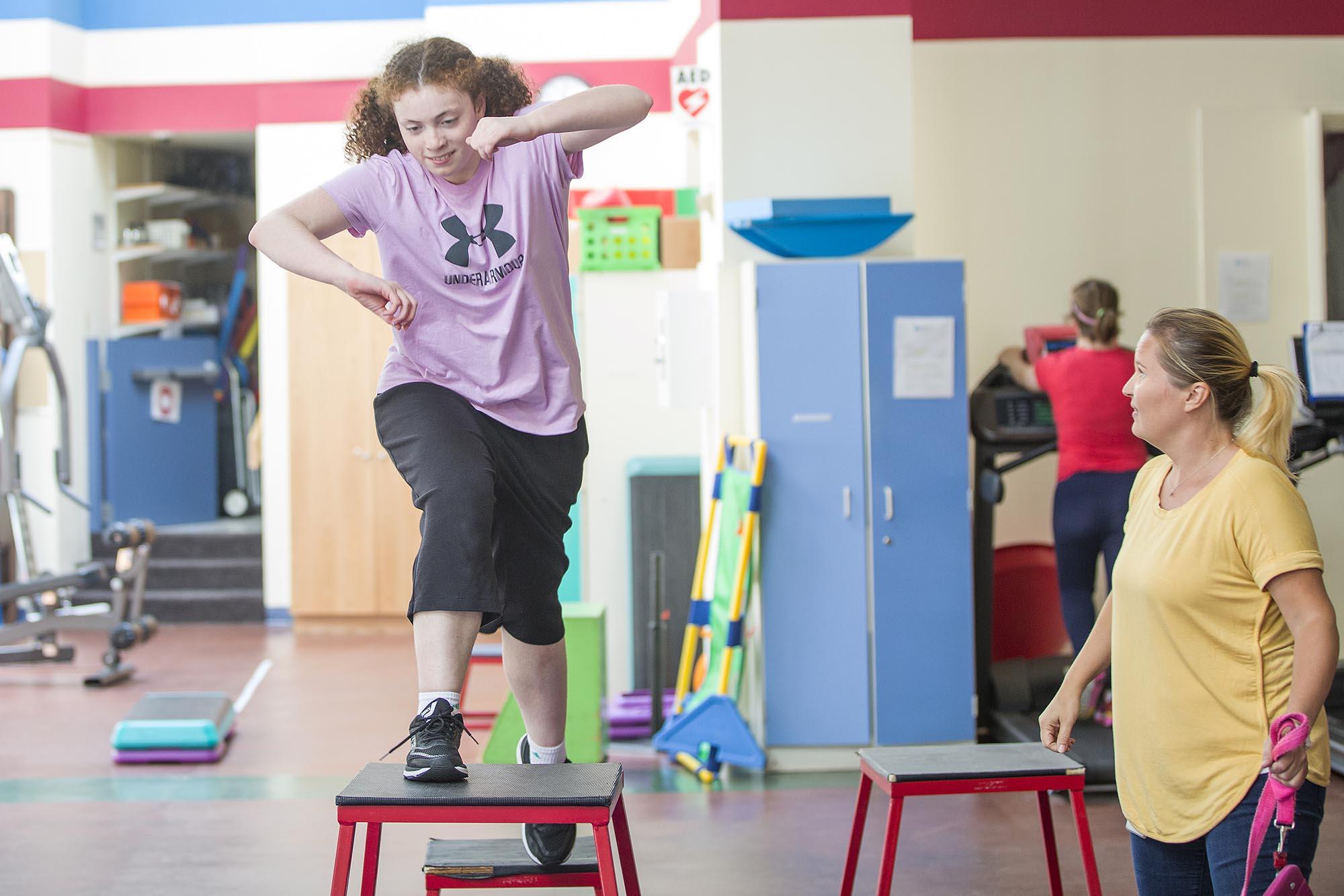 NECC student in gymnasium