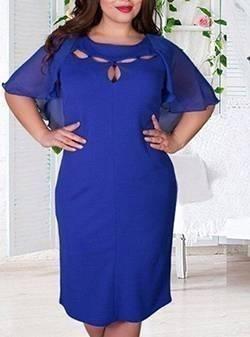 Necessaire da Diva 5525262-azul Vestidos plus size em super promoção-novembro 2017. Moda  Vestidos plus size vestidos em promoção vestidos baratos vestido Tosave roupas baratas da China plus size Look Dress Head