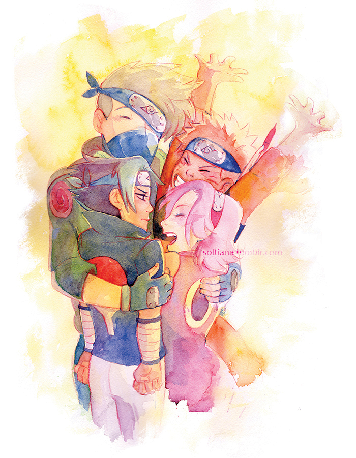 Evergreen affection, Naruto.