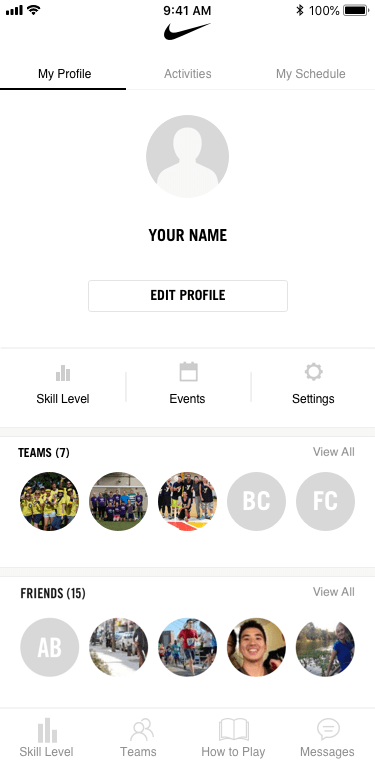 Huddle profile