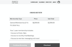 Pod payment page