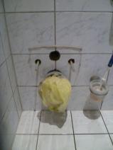 Die Toilette ist verschwunden