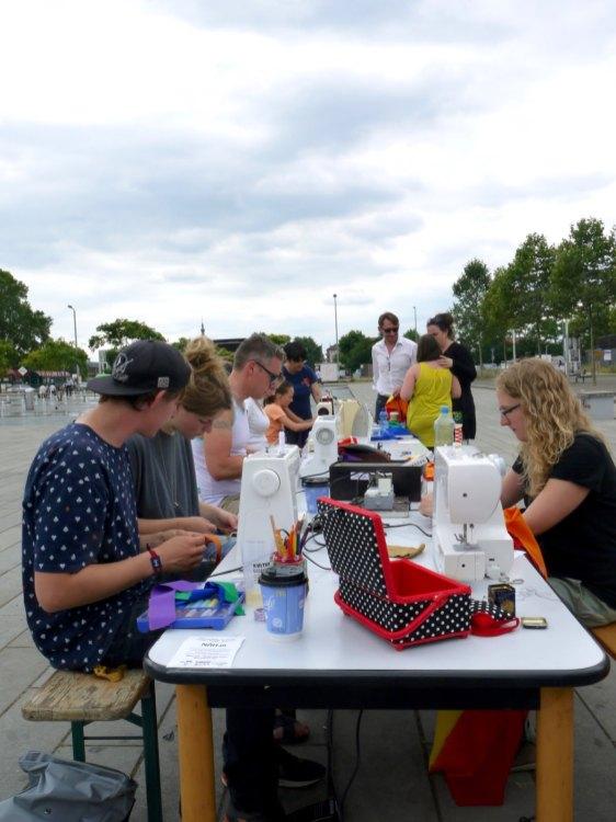 Näh-in auf dem Alten Messplatz| Foto: Neckarstadtblog
