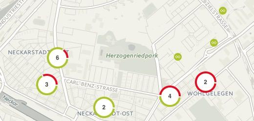 Auch in der Neckarstadt verbreitet sich Freifunk allmählich | Screenshot: Webseite FFRN