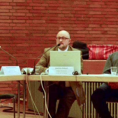 Stadtpark-Geschäftsführer Joachim Költzsch stellte im Bezirksbeirat Neckarstadt-Ost im März persönlich die Entwicklungspläne vor | Foto: M. Schülke