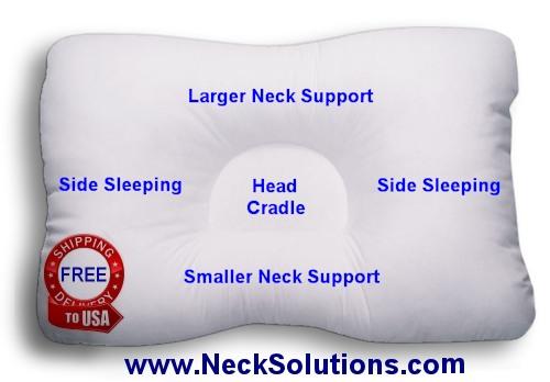 dcore neck support pillow fiber