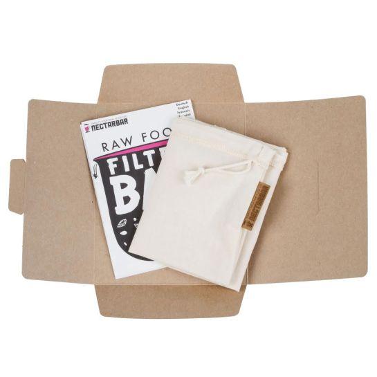 Filterbeutel Nectarbar mit Anleitung und Verpackung