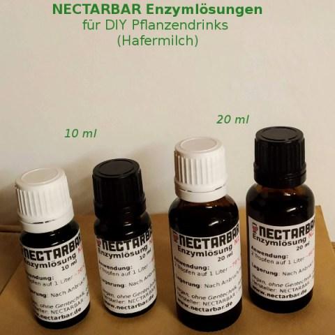 NECTARBAR Enzymlösungen für Hafer- und Plfanzenmilch