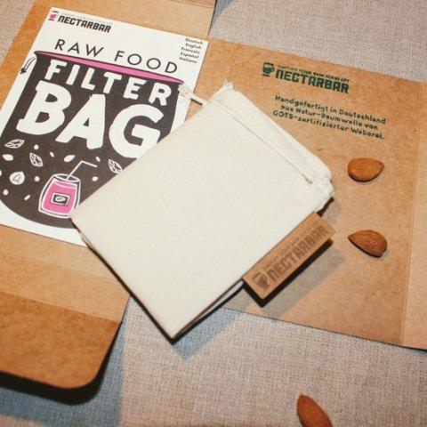 Nussmilchbeutel Handgefertigt in Deutschland aus Baumwolle mit Anleitung