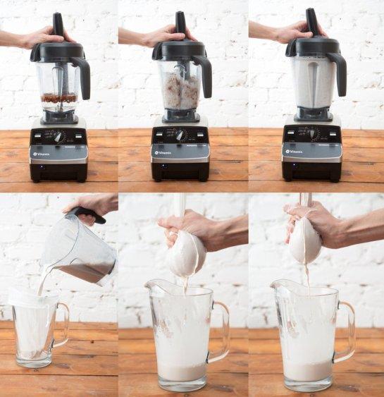 Herstellung von frischer Nussmilch mit NECTARBAR