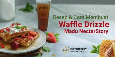 resep dan cara membuat waffle drizzle