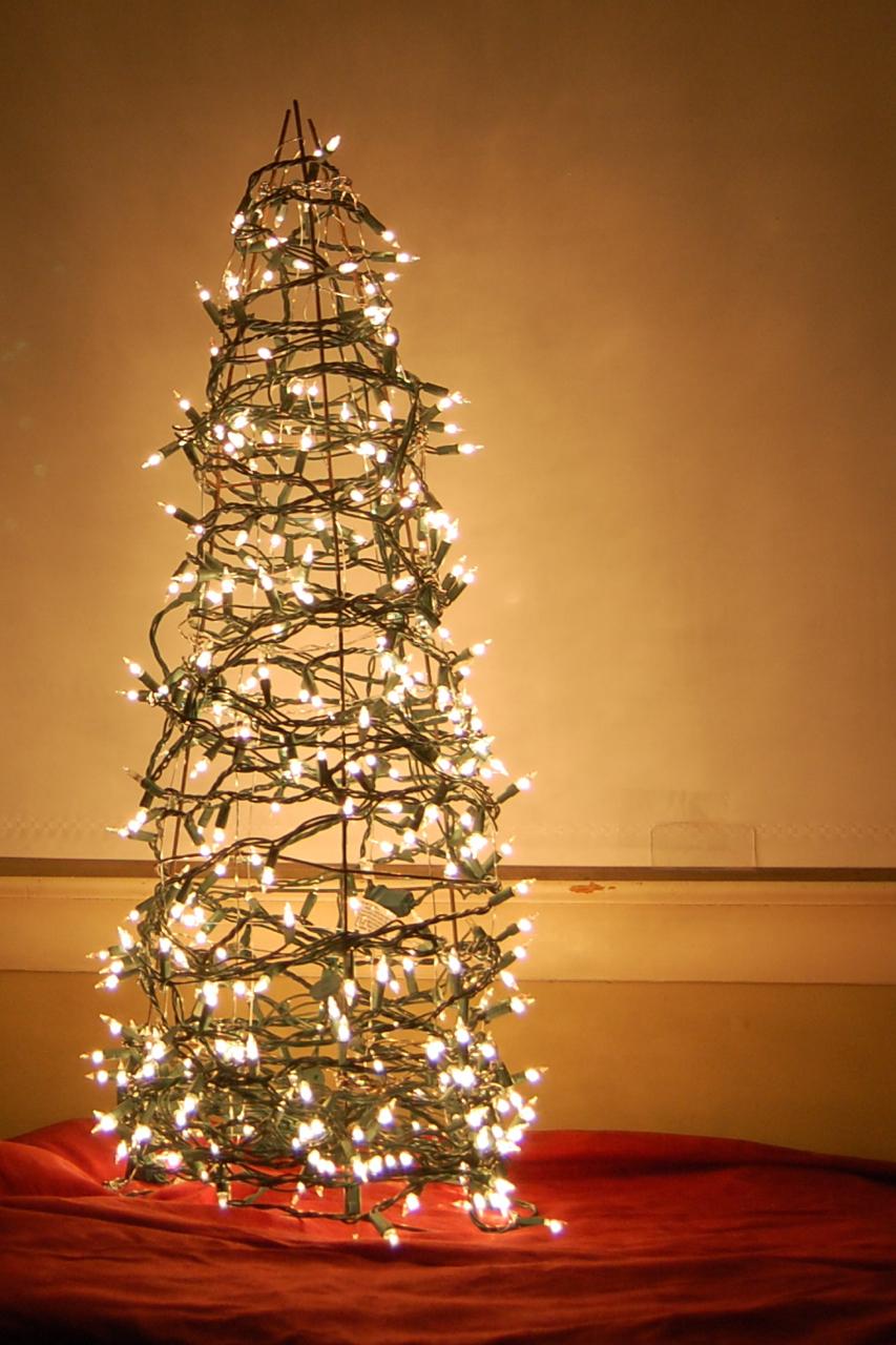 Image result for christmas light tomato climber