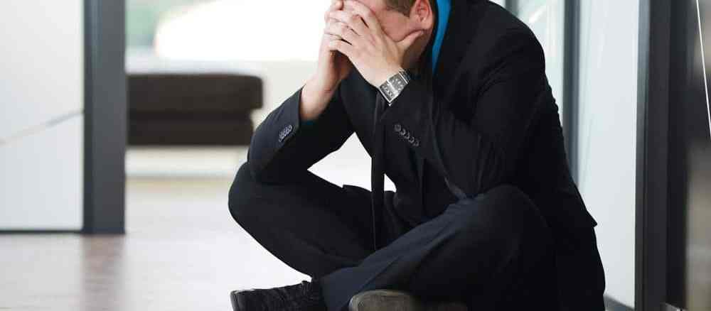 man suffering from unemployment depression