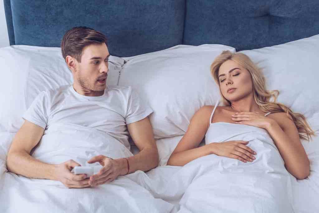husband thinking about cheating