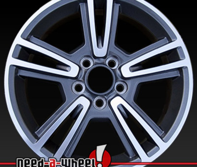 Ford Mustang Wheels Machined Charcoal Stock Rims