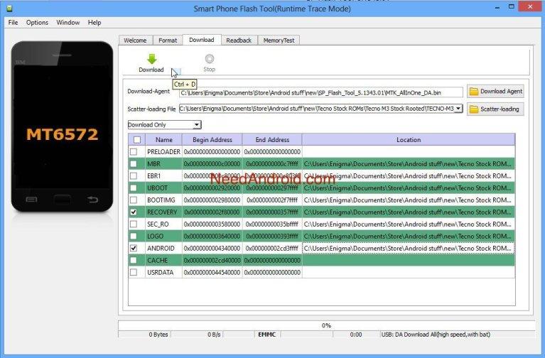 Download SP Flash Tool v5.1752 (Smart Phone Flash Tool)