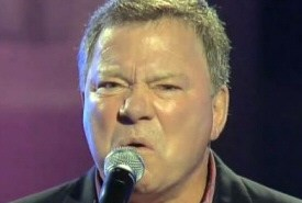 William Shatner sings