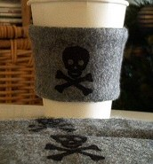 Pirate coffee cuff