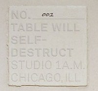 This Table Will Self-Destruct