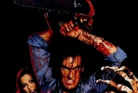 Bruce Campbell and chainsaw from Evil Dead